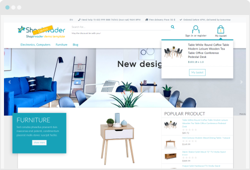 ShopInvader is a new ecommerce solution with Odoo for all business.