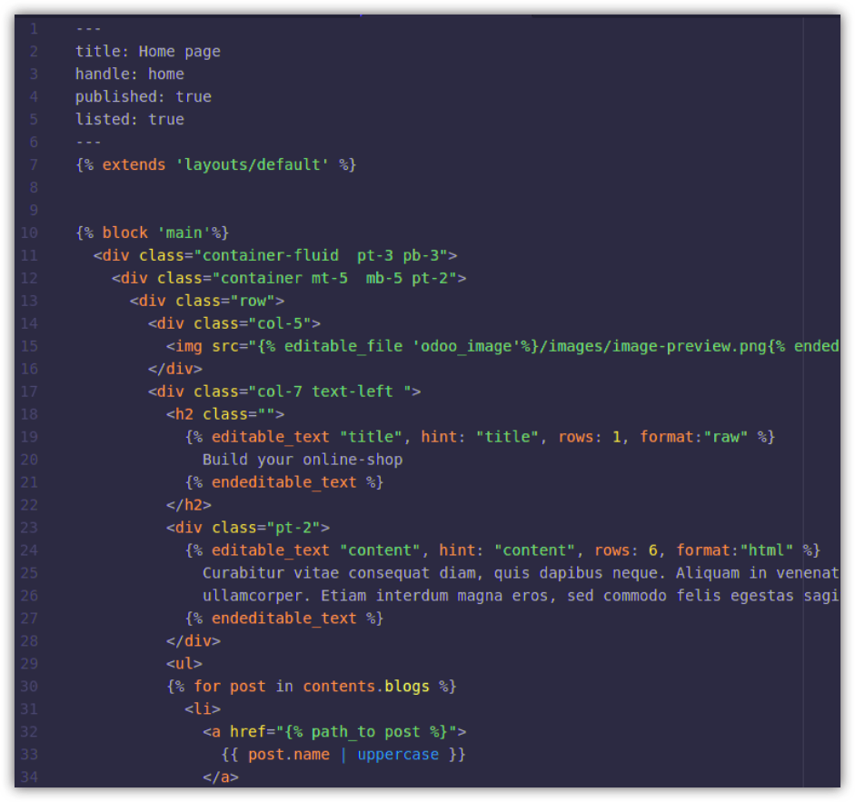 Create your ShopInvader template only with HTML, JavaScript, CSS.